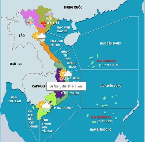 Bình Thuận thuộc miền nào?