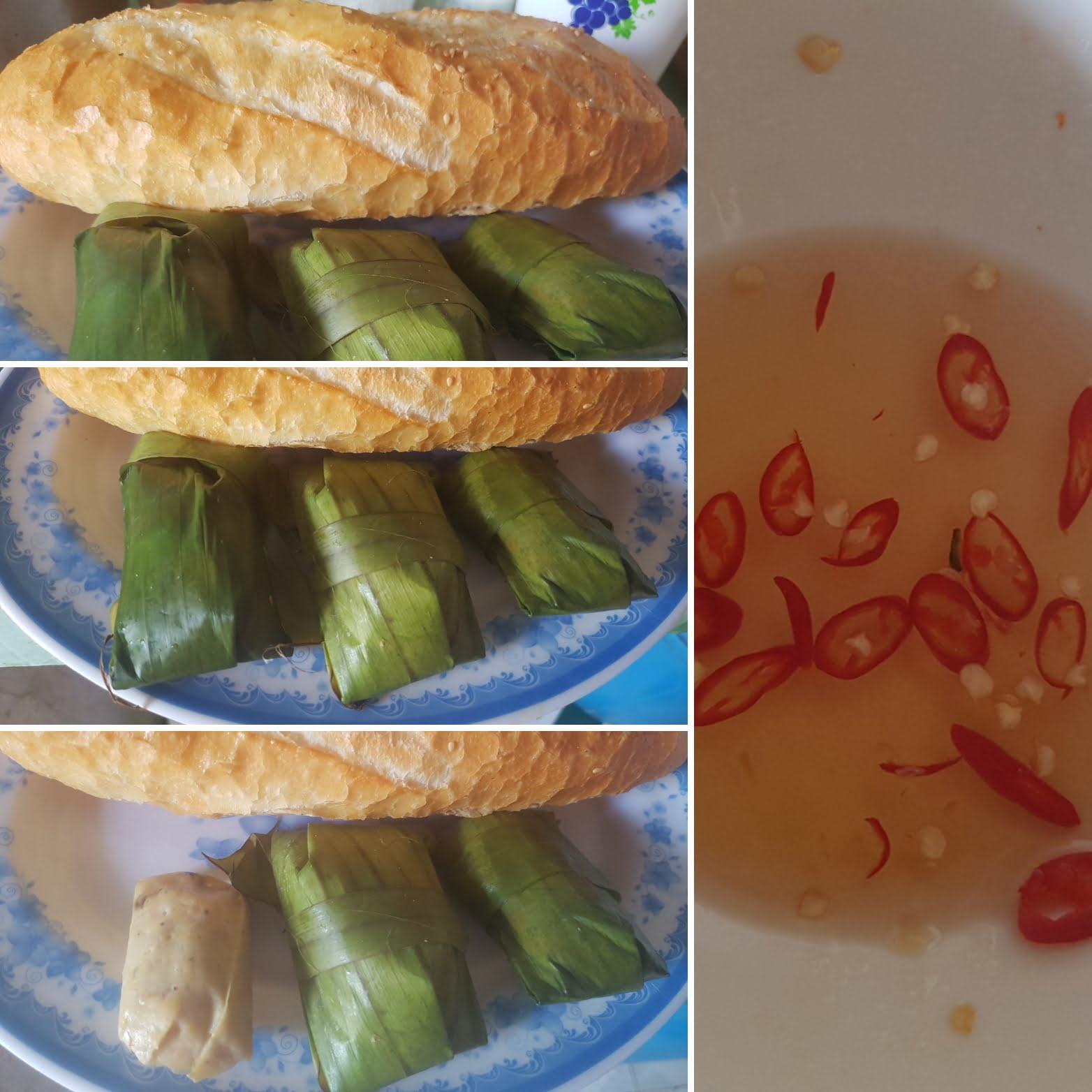 Bánh mì kẹp chả lụa