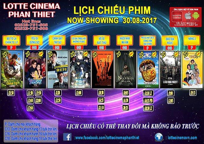 Lịch chiếu phim Lotte Cinema Phan Thiết