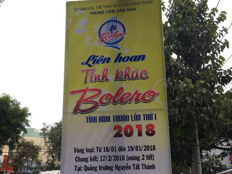 Liên hoan Tình khúc Bolero Bình Thuận 2018