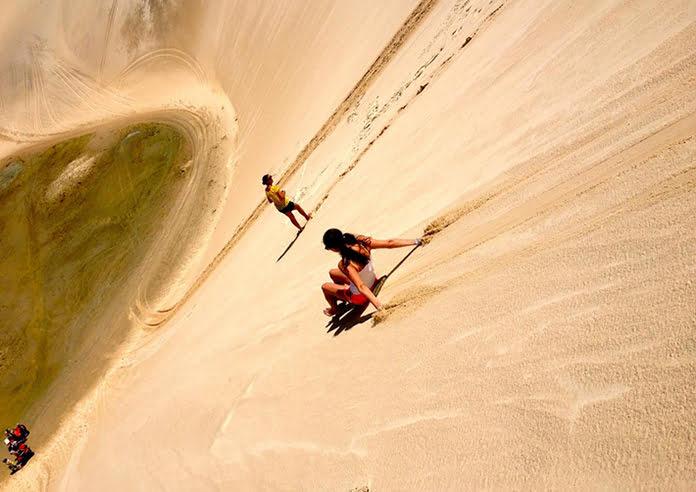 Trượt cát ở Bàu Trắng