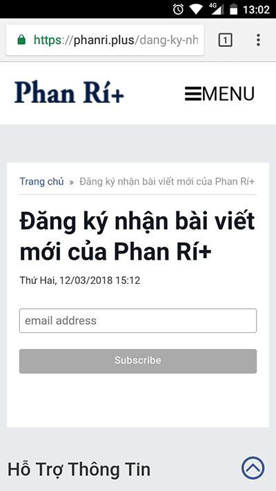 Nhận thông báo lịch cúp điện Bình Thuận