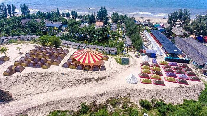 Rừng lều biển lểu ở Coco Beachcamp