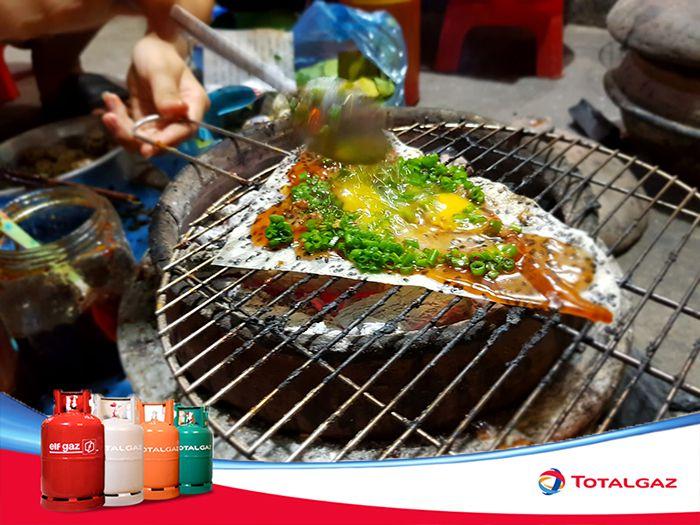Bánh tráng nướng mắm ruốc ở Phan Rí