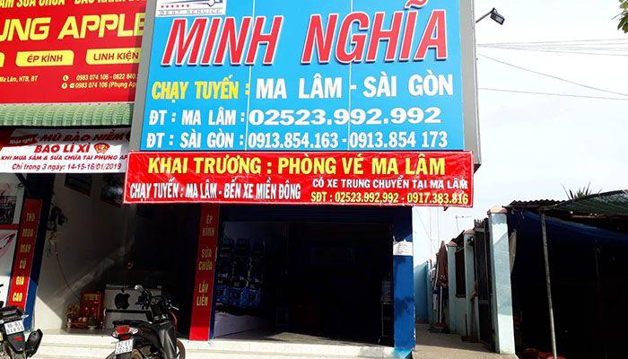 Nhà xe Minh Nghĩa khai trương phòng vé Ma Lâm