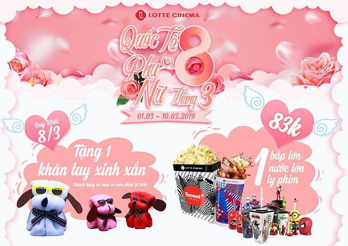 Lotte Cinema Phan Thiết khuyến mãi 8/3