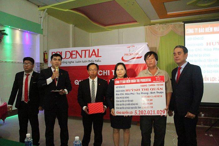 Prudential Việt Nam chi trả 06 tỷ cho khách hàng