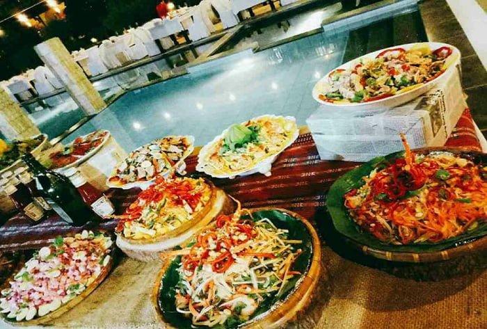Các món ăn tại khu resort