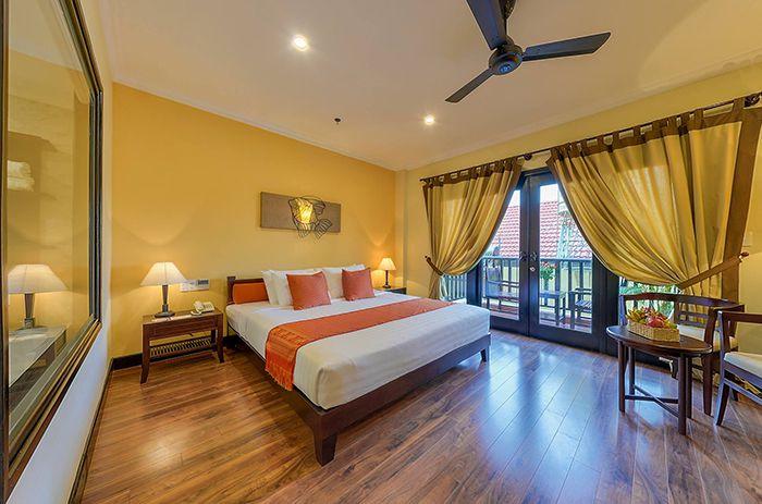 Phòng nghỉ hiện đại của resort