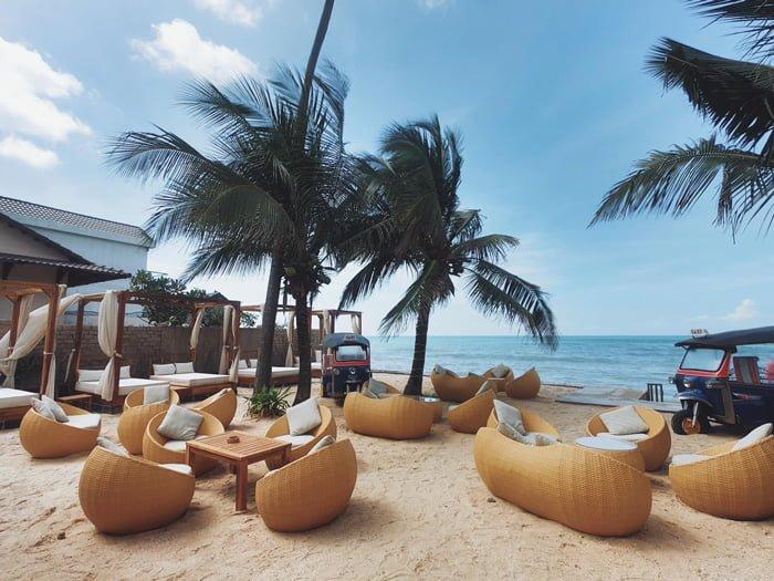view đẹp của Chameleon Beach Bar
