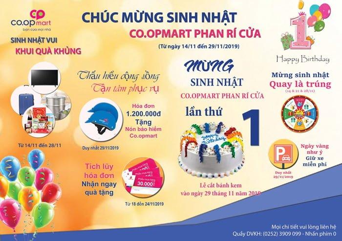 sinh nhật Co.opmart Phan Rí Cửa