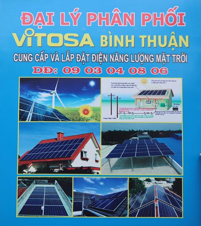 Đại lý Vitosa Bình Thuận chuyên thi công điện năng lượng mặt trời