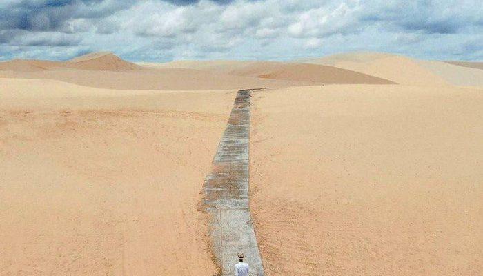 Con đường ở Bàu Trắng