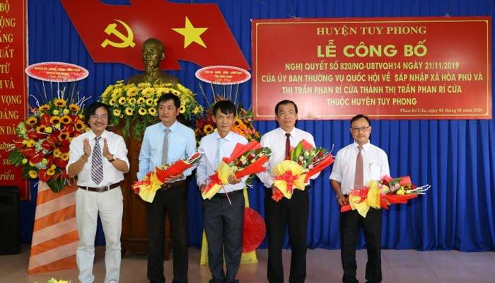 Các chức danh nhân sự của Phan Rí Cửa mới.