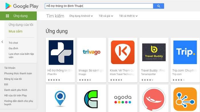 Ứng dụng hỗ trợ thông tin Bình Thuận