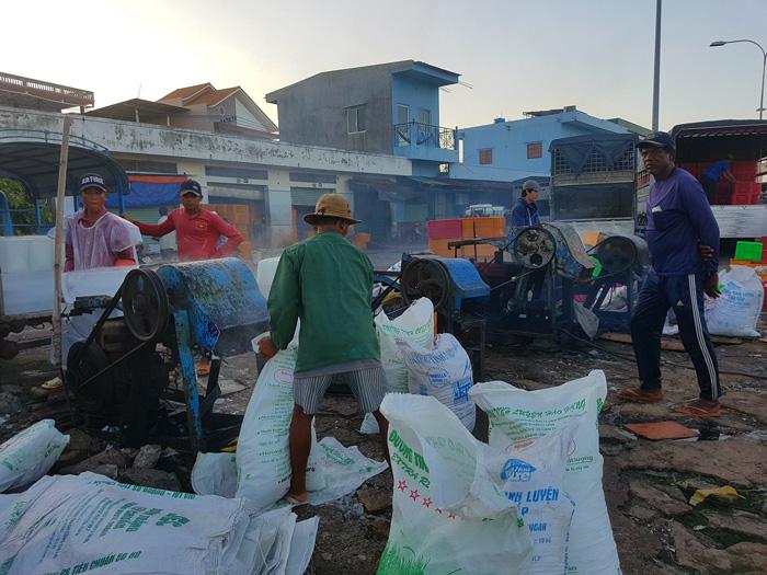 Người dân lao động ỏ Cảng biển Phan Rí