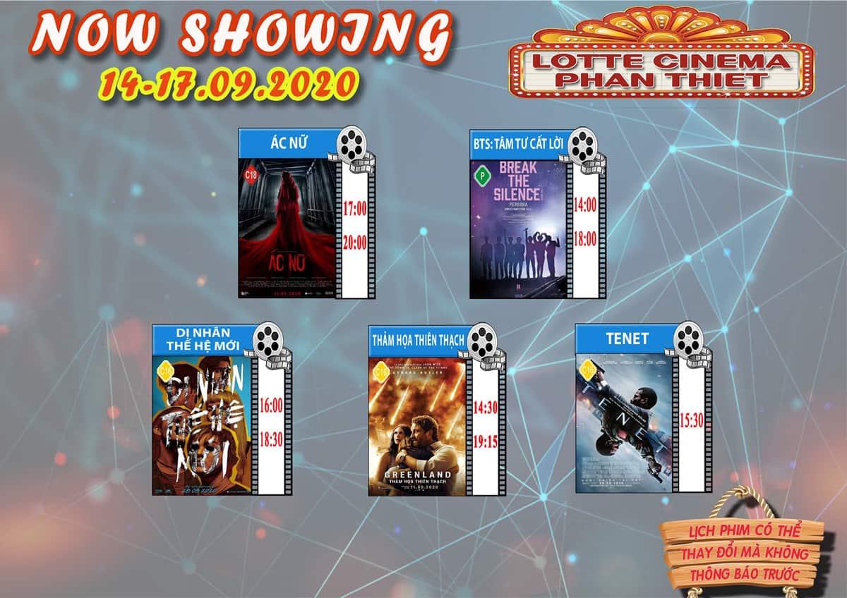 Lịch chiếu phim tại Lotte Cinema Phan Thiết