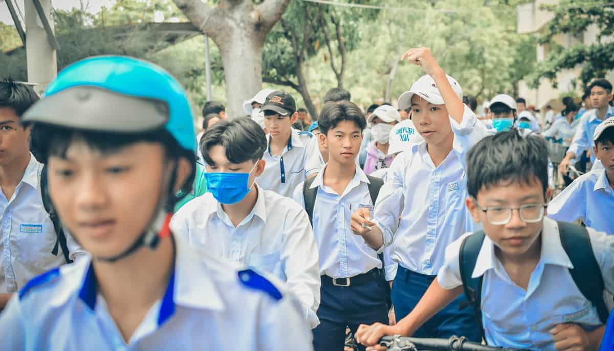 Học sinh trường Hòa Đa