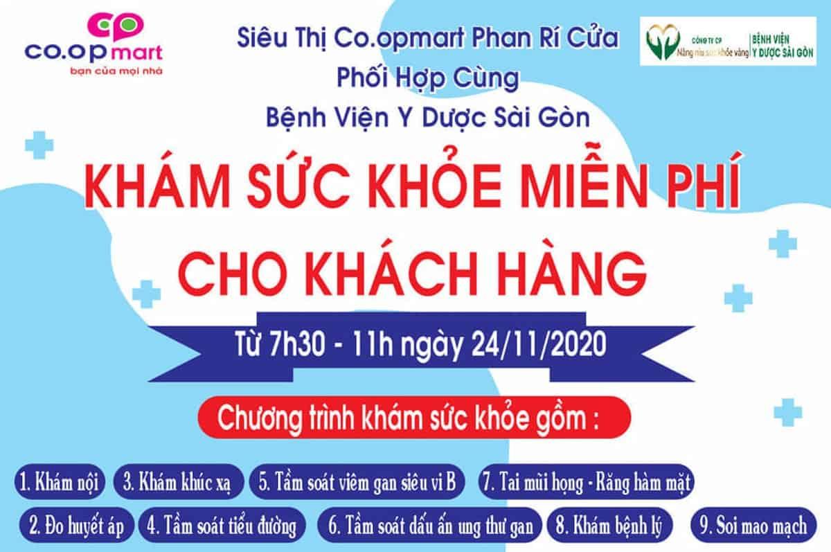 Co.opmart Phan Rí Cửa tổ chức khám sức khỏe miễn phí