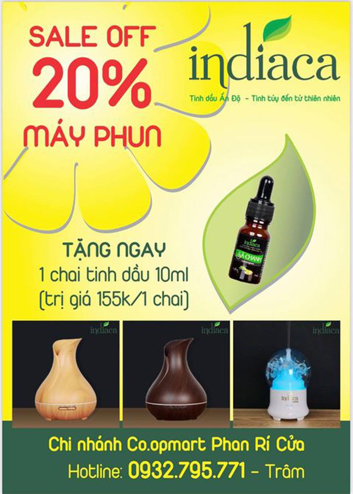 Indiaca Co.opmart Phan Rí Cửa có ưu đãi kép