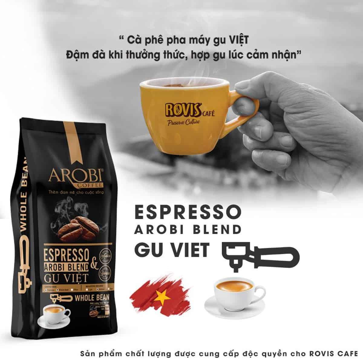 Espresso Gu Việt nổi tiếng của Rovis Cafe