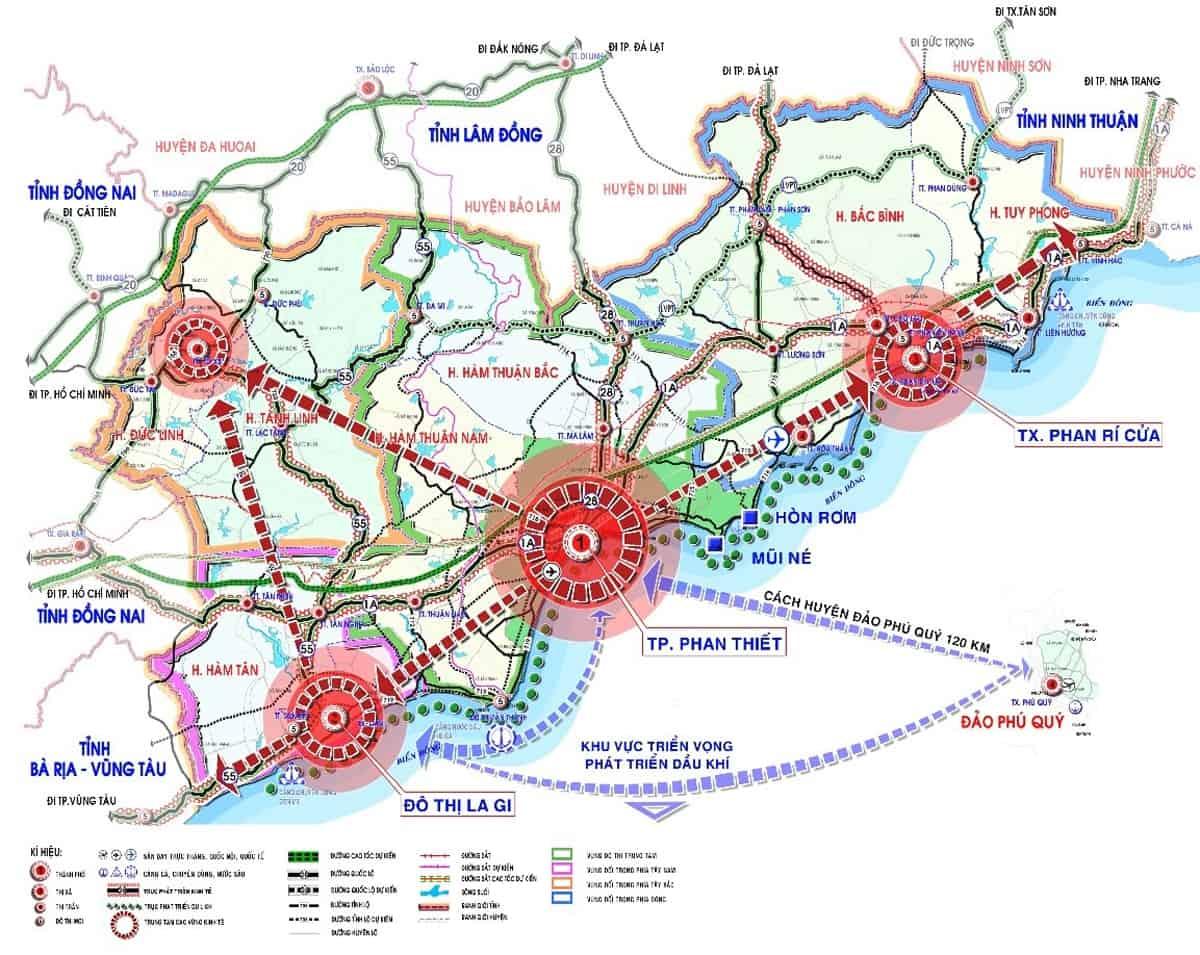 Quy hoạch bao gồm thành phố Phan Thiết 2040