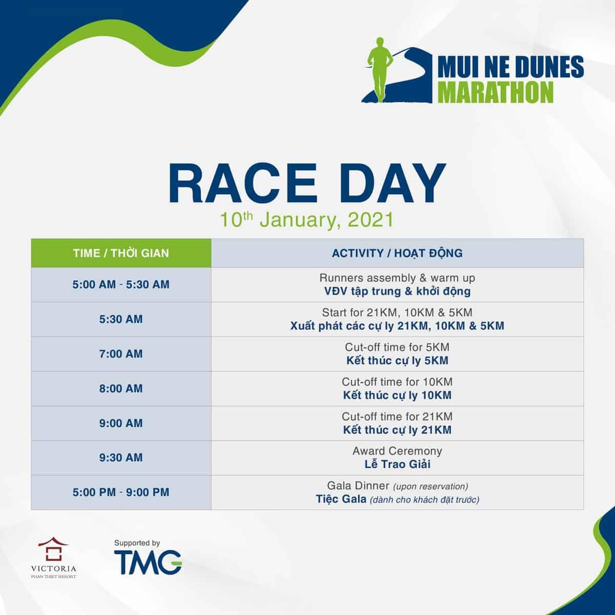 Race Day của Mui Ne Dunes Marathon