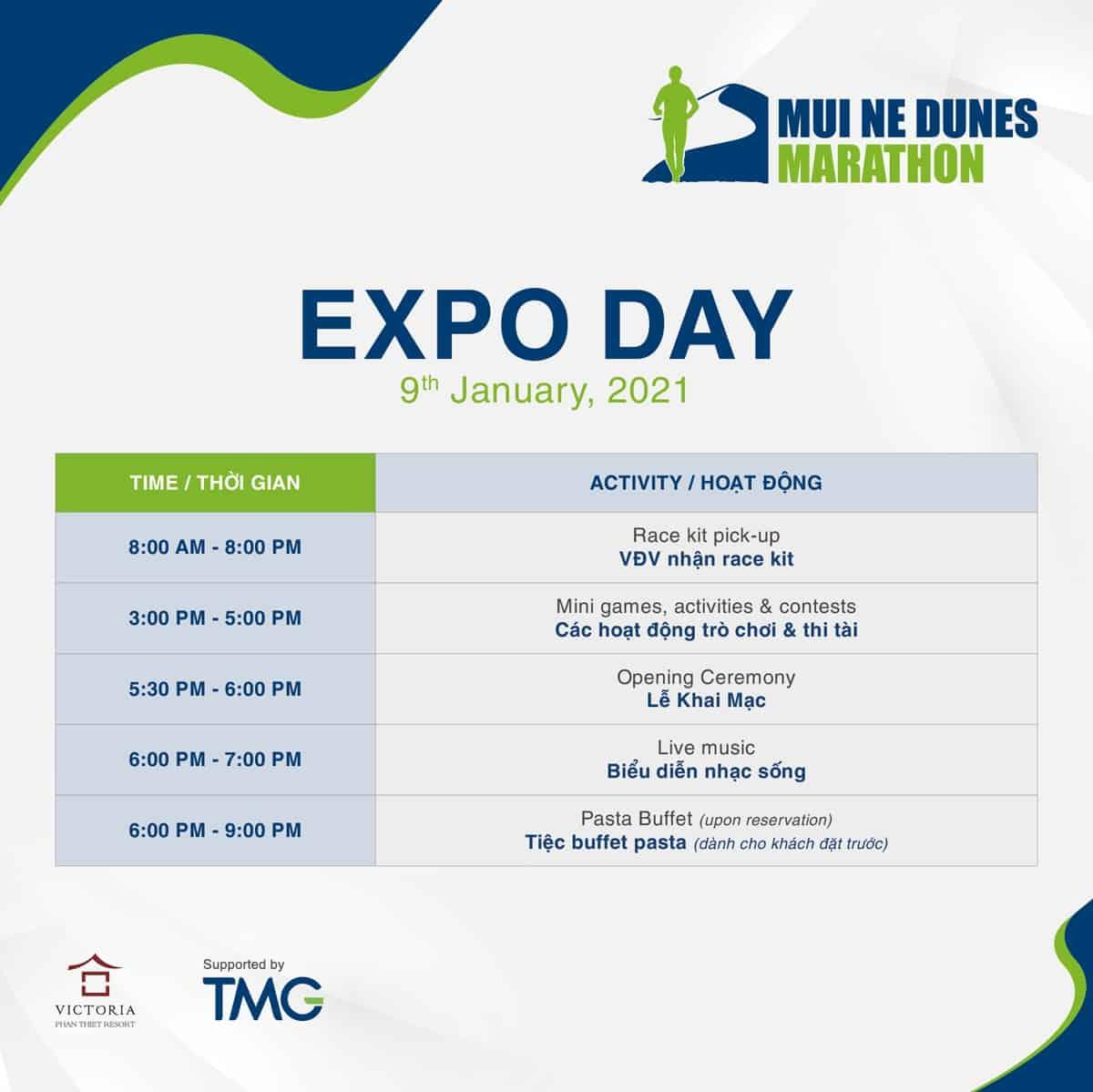 Expo Day của Mui Ne Dunes Marathon