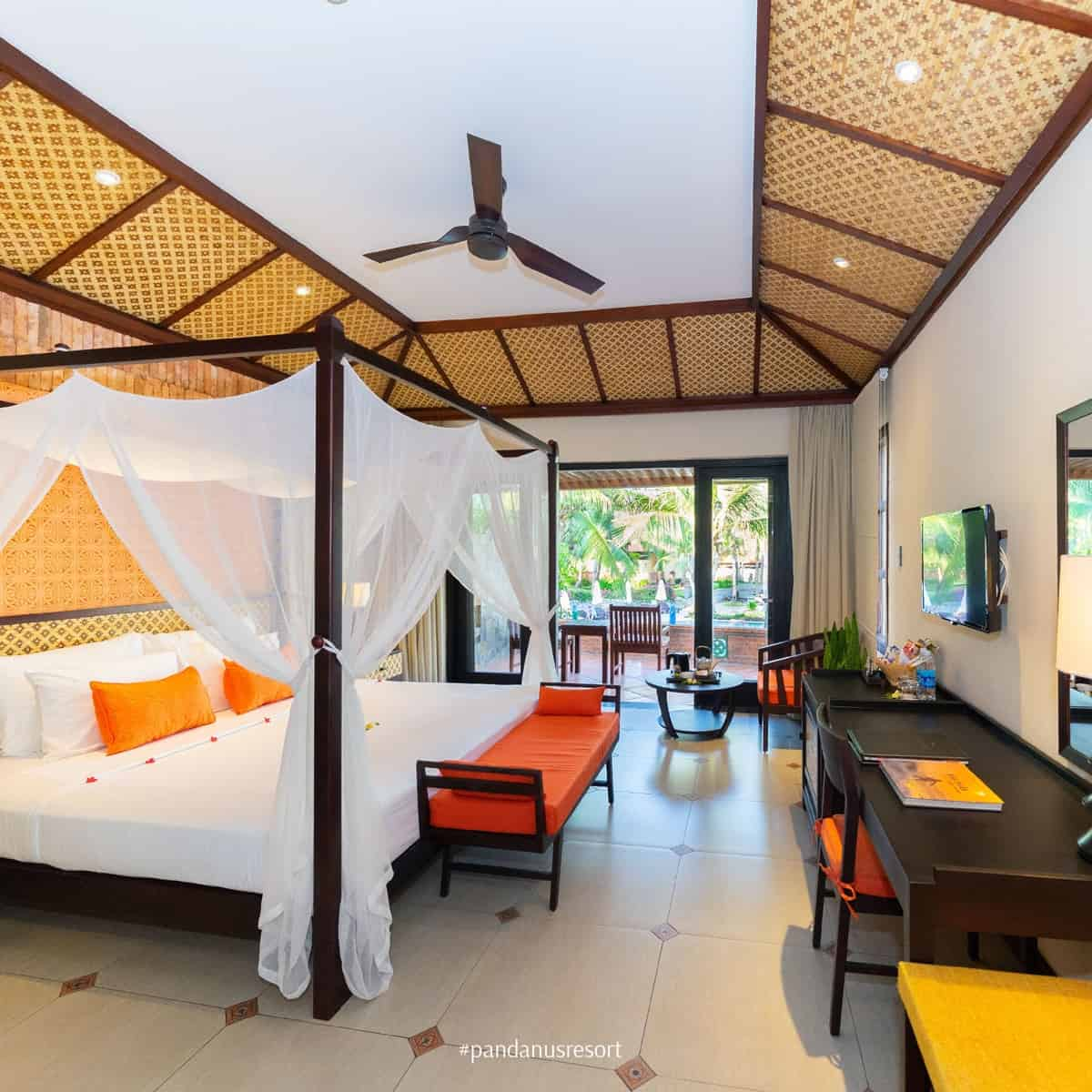 Phòng nghỉ tại Pandanus Resort