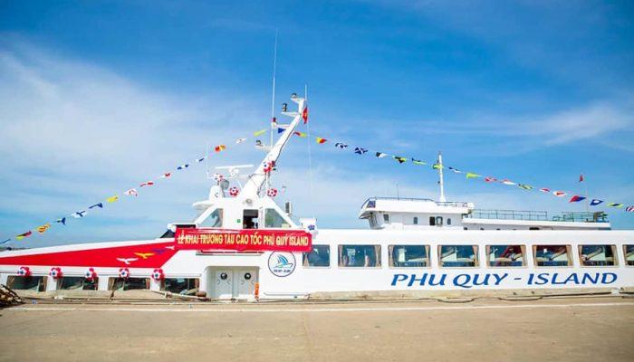 Tàu cao tốc Phú Quý Island chính thức hoạt động vào 01/02/2021