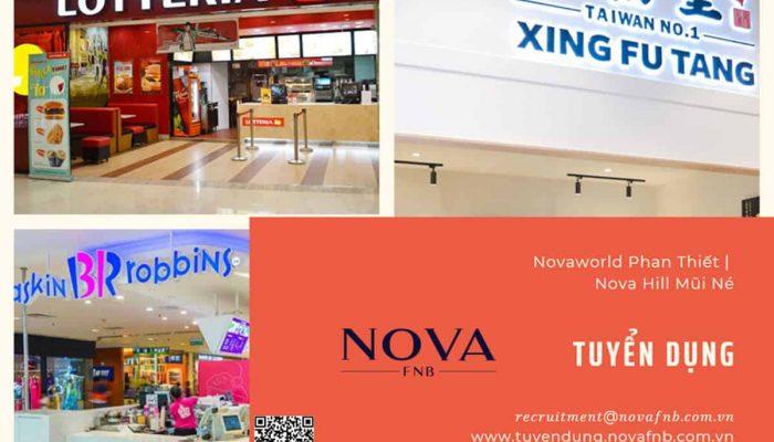 Nova F&B tuyển nhân viên cho Xing Fu Tang/ Lotteria/ Baskin Robbins