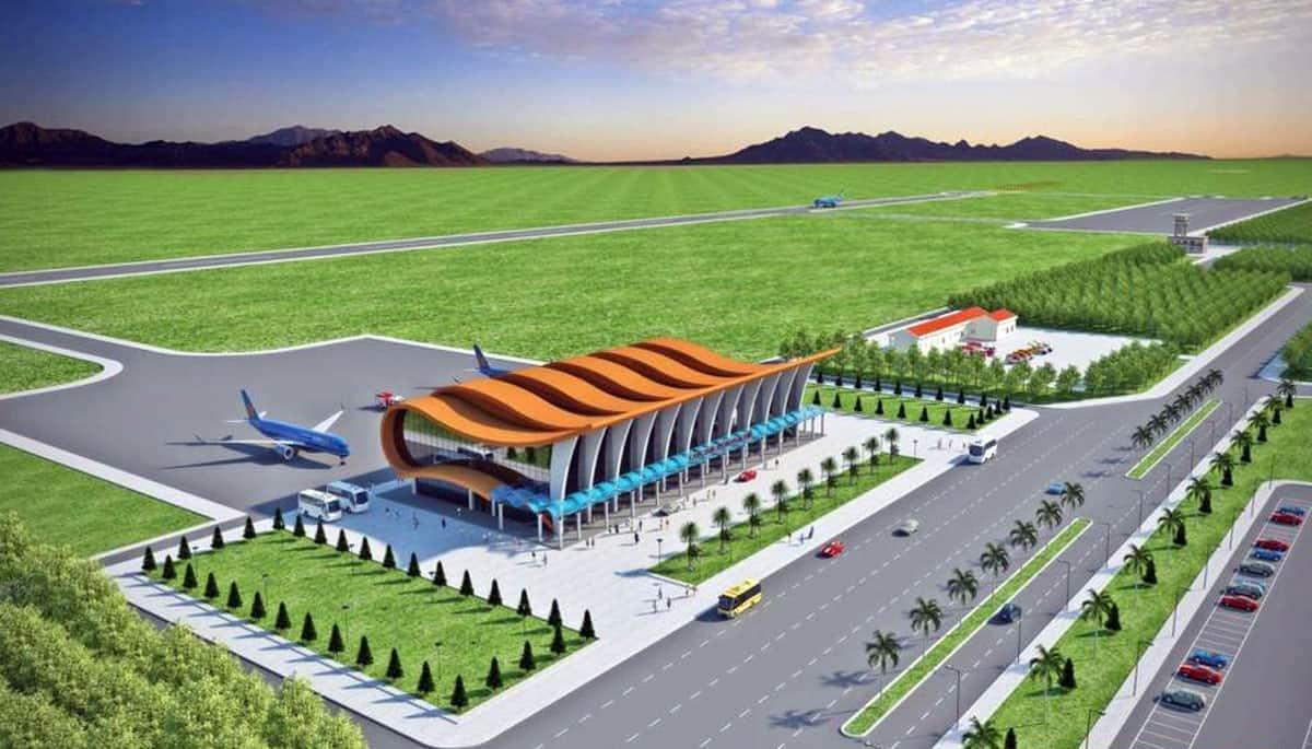 Phối cảnh sân bay Phan Thiết - Ảnh UBND tỉnh Bình Thuận