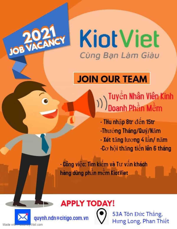 KiotViet Bình Thuận tuyển dụng