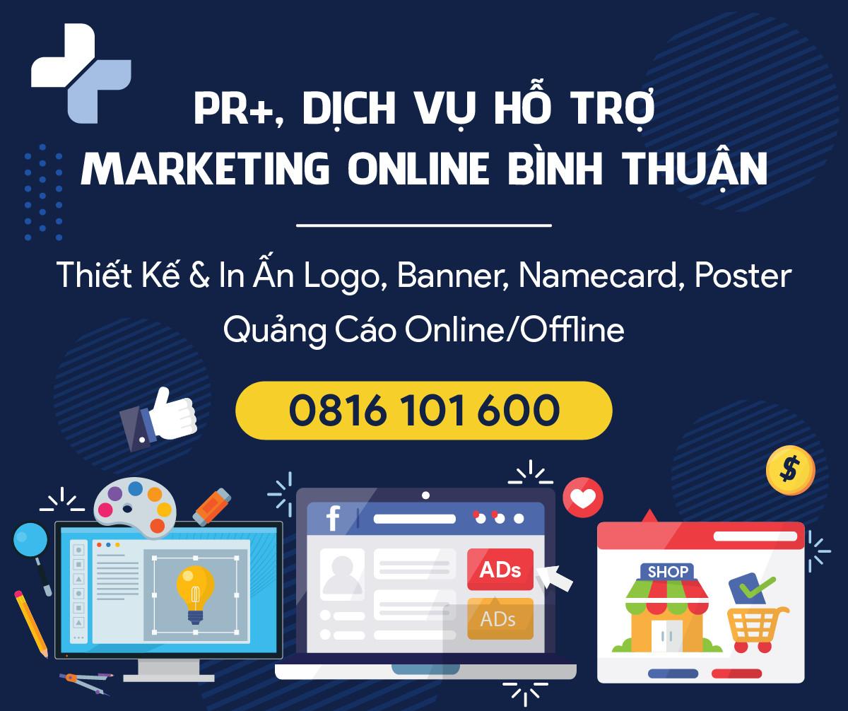PR+, hỗ trợ marketing online Bình Thuận